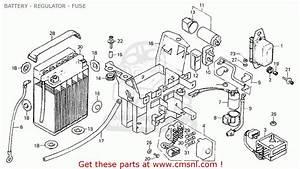 Honda Cb750k7 Four England Battery - Regulator