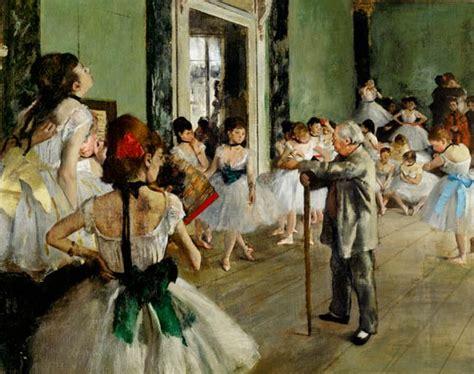 La classe di danza olio su tela di Edgar Degas