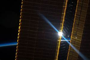 The Sun Through a Solar Array Panel | NASA