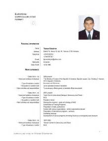 resume sle pdf free download european cv format pdf reportd402 web fc2 com