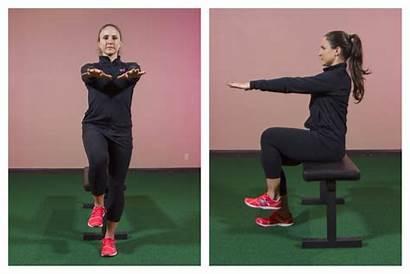 Leg Squat Single Exercise Spotlight Side Start