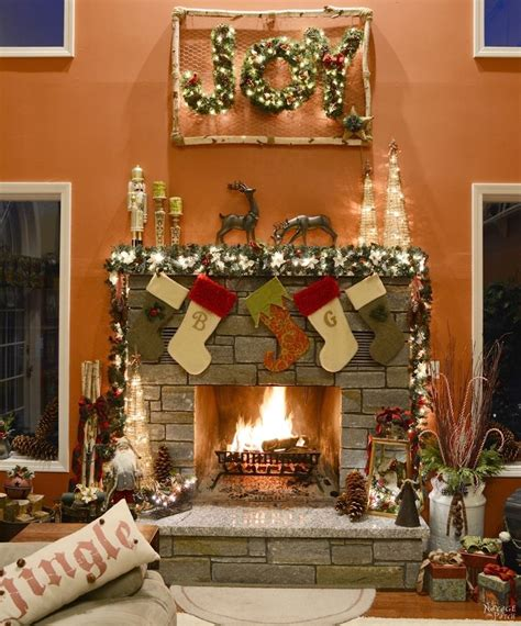 set  beautiful christmas mantel decorations