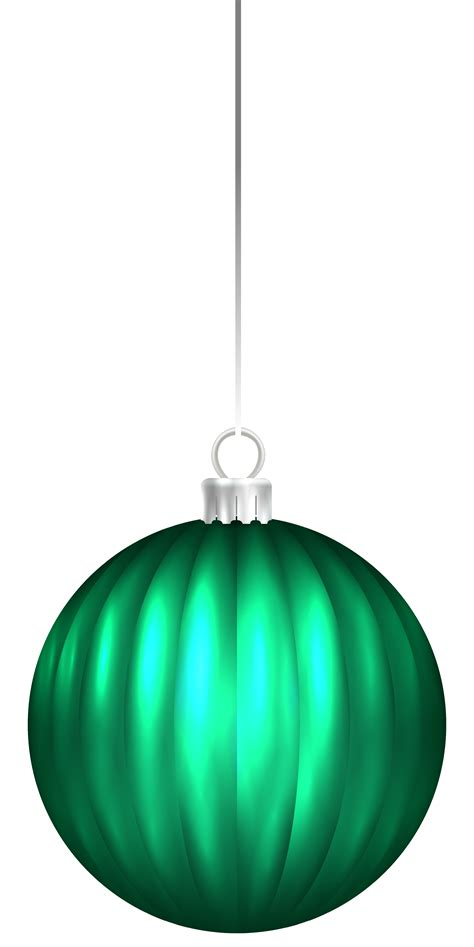 Green Christmas Ornament Clipart  Happy Holidays