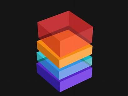 Cube Isometric Animation Animated Squares Dribbble