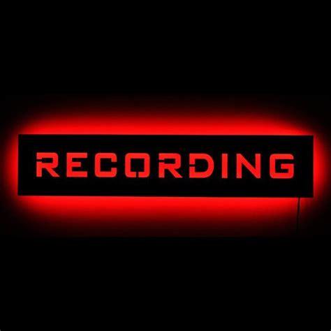 lighted recording studio  air warning light sign led