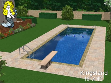 8' Depth Fiberglass Swimming Pools