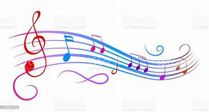 Notes Musical Vector Wave Colorful Illustration Clip