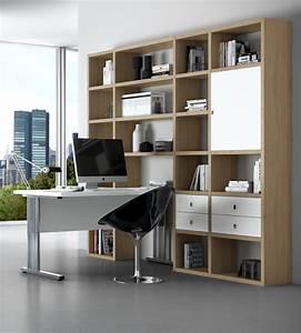 Schrankwand Mit Integriertem Schreibtisch : b rowand mdor eiche natur wei lack online kaufen ~ Watch28wear.com Haus und Dekorationen