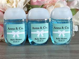 Hand sanitizer labels turquoise baby shower favor labels for Hand sanitizer bridal shower favors