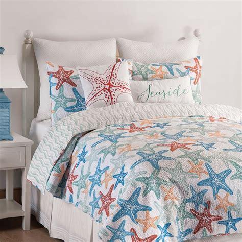 King Size Quilt And Shams by Kalani Starfish King Quilt 2 King Pillow Shams Mini