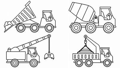 Coloring Construction Colouring Truck Sheet Vehicles Cars