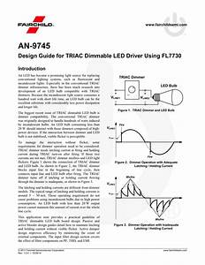 Design Guide For Triac Dimmable Led Driver Using Fl7730 By