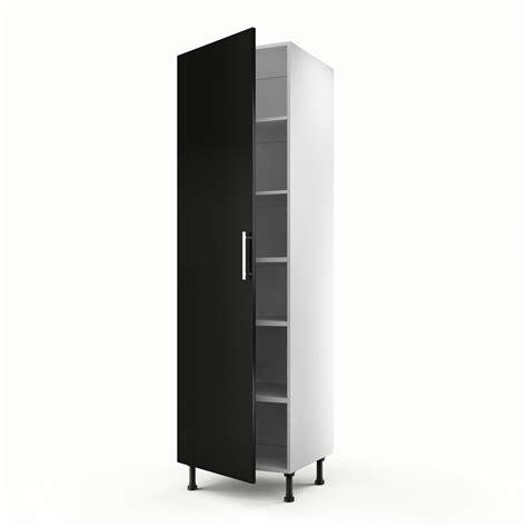 meuble de cuisine leroy merlin meuble de cuisine colonne noir 1 porte délice h 200 x l 60