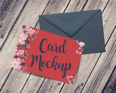 greeting card  envelope mockup  psd designhooks