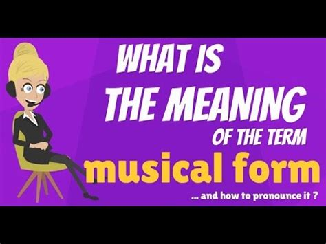 what is musical form what does musical form mean musical