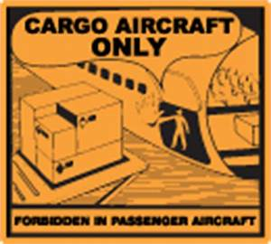 lithium batteries compliance solutions icc With cargo aircraft only label