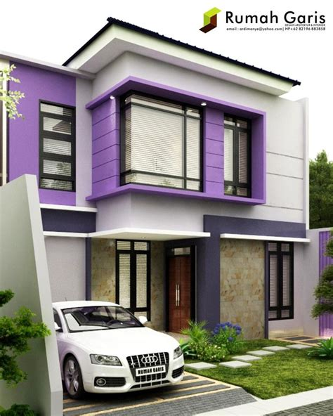 rumah indah lantai konsep modern minimalis warna