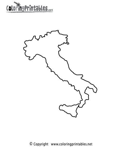 italy coloring page coloring home
