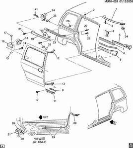 Chevrolet Venture Bracket  Door Hinge  Sliding Rear Side
