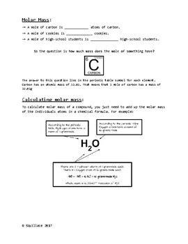 calculating molar mass worksheet high school chemistry