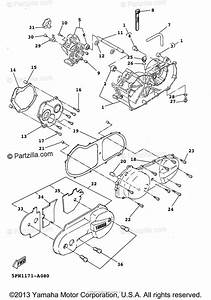 Yamaha Scooter 2003 Oem Parts Diagram For Crankcase