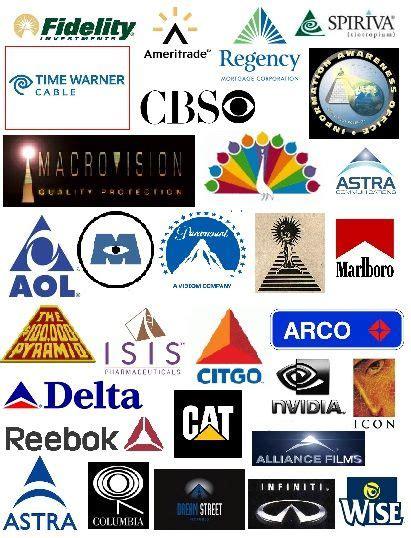 Illuminati Corporate Symbols by Pyramids And All Seeing Corporate Logos