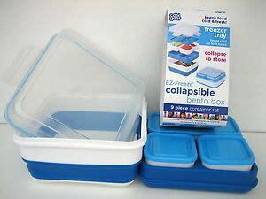 cool gear ez freeze collapsible  piece bento box freezer tray container set ebay