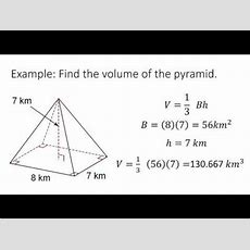 Volume And Surface Area Of Pyramids Youtube
