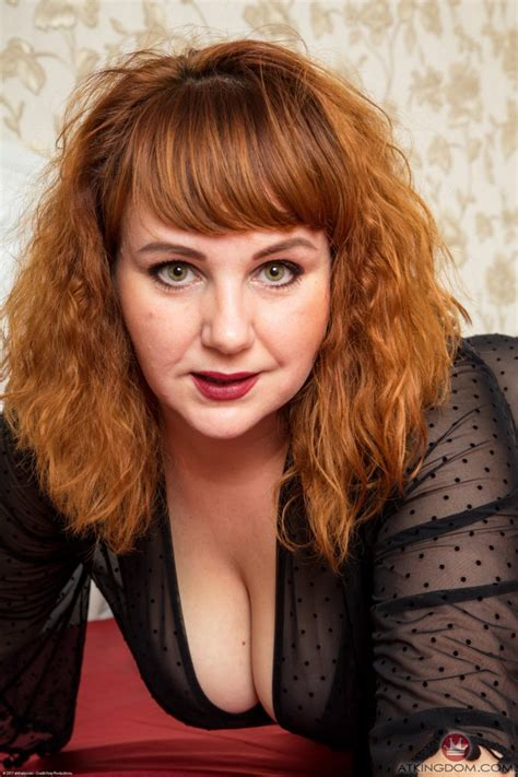 Chubby Redhead Remains Alone To Put Dildo In Unshaven Muff