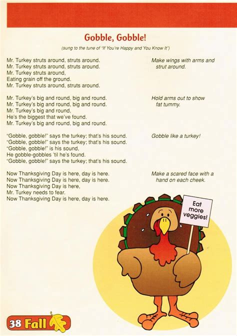 thanksgiving songs for preschool preschool thanksgiving songs and fingerplays 672