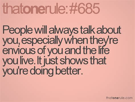 People Will Talk About You Quotes