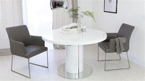 curva  white gloss extending dining table danetti