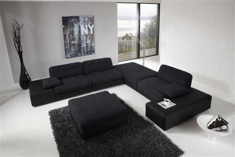 black sofa living room ideas large black sofa for modern living room design with high