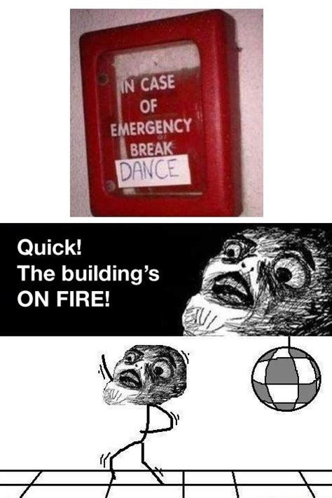 Break Dance Meme - in case of emergency break dance funny meme pic