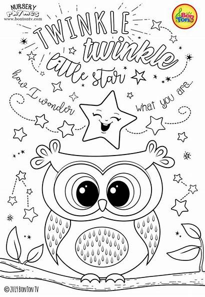 Coloring Pages Star Preschool Twinkle Sheets Printables