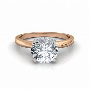 classic 4 prong solitaire engagement ring With solitaire diamond wedding rings