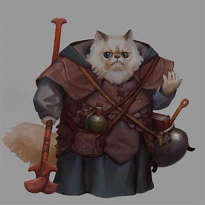 Wizard Cat Artstation Artwork