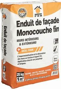 Enduit De Facade Prix : enduit de facade bricoman resine de protection pour peinture ~ Edinachiropracticcenter.com Idées de Décoration
