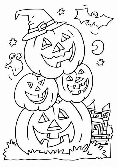 Halloween Coloring Pages Printable Printables Colouring Colour