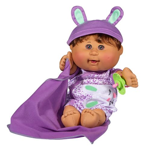 """Cabbage Patch Kids 12 5"""" Naptime Babies: Purple Pajamas"""