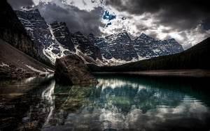 Dark, Mountain, Views