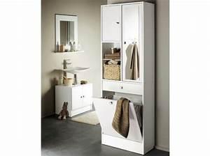 Bac A Linge Ikea : armoire salle de bain miroir ikea id es d co salle de bain ~ Teatrodelosmanantiales.com Idées de Décoration