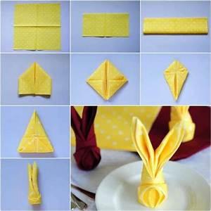 Pliage Serviette Lapin Simple : 14 pliages de serviettes faciles pour vos magnifiques tables de f tes pliage serviette ~ Melissatoandfro.com Idées de Décoration