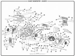 Homelite Hu22511 Generator Hu2250 Series Parts Diagram For