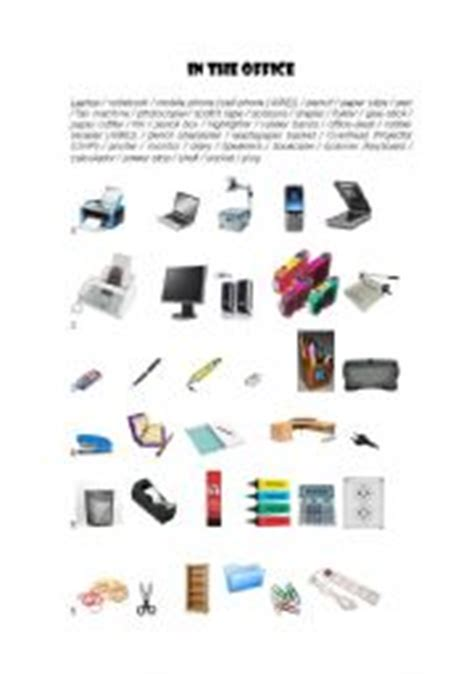 and equipment vocabulary with pictures lesson worksheets office supplies Office