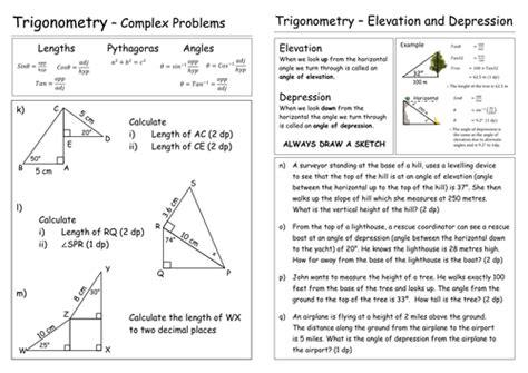 Trigonometry Worksheet By Pebsy  Teaching Resources Tes