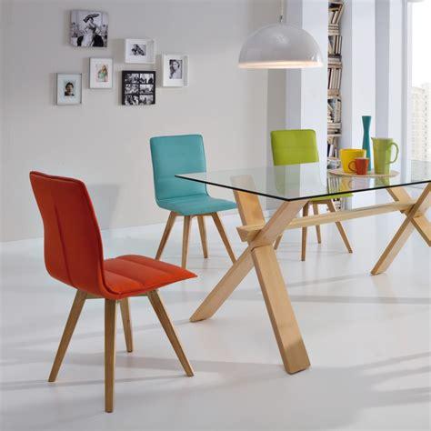 chaises cuir duo de chaises turquoise kano univers salle à manger
