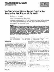 Graft-versus-host disease: How to translate new insights ...