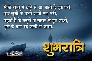 Nice Hindi Good Night Shayari and Cool Quotes Images ...