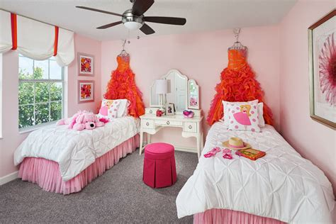 luxurious traditional kids girls shared room features